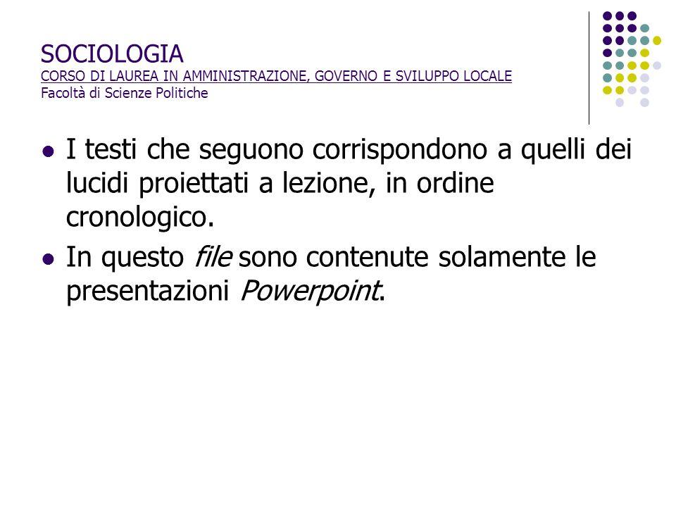 In questo file sono contenute solamente le presentazioni Powerpoint.