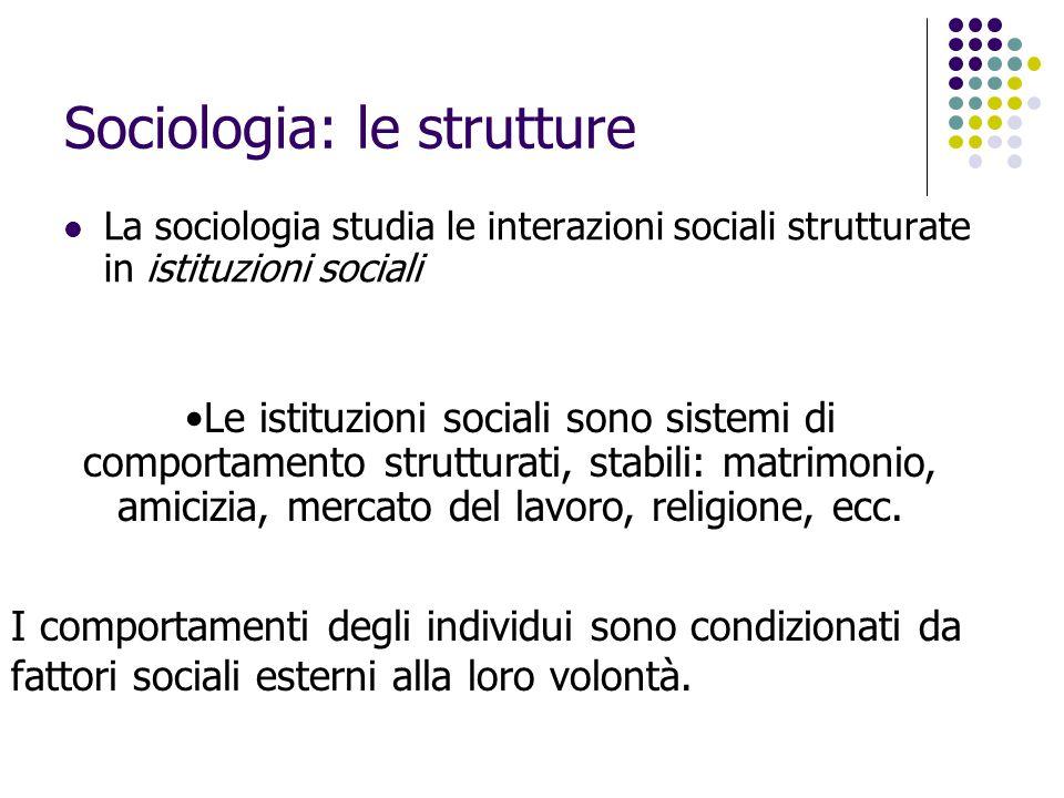 Sociologia: le strutture