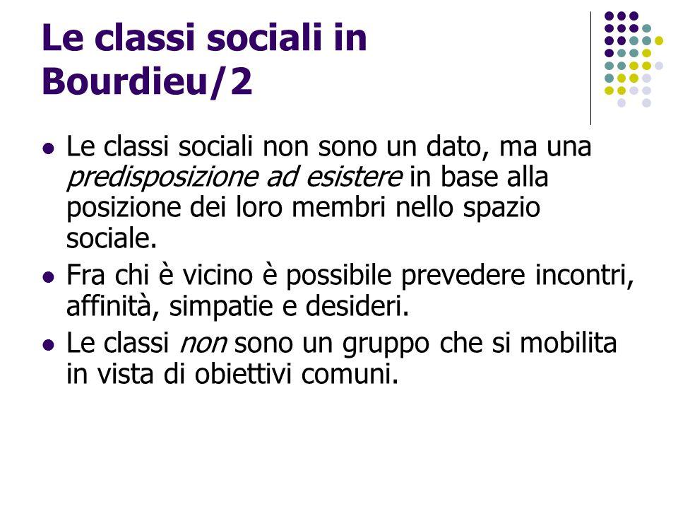 Le classi sociali in Bourdieu/2