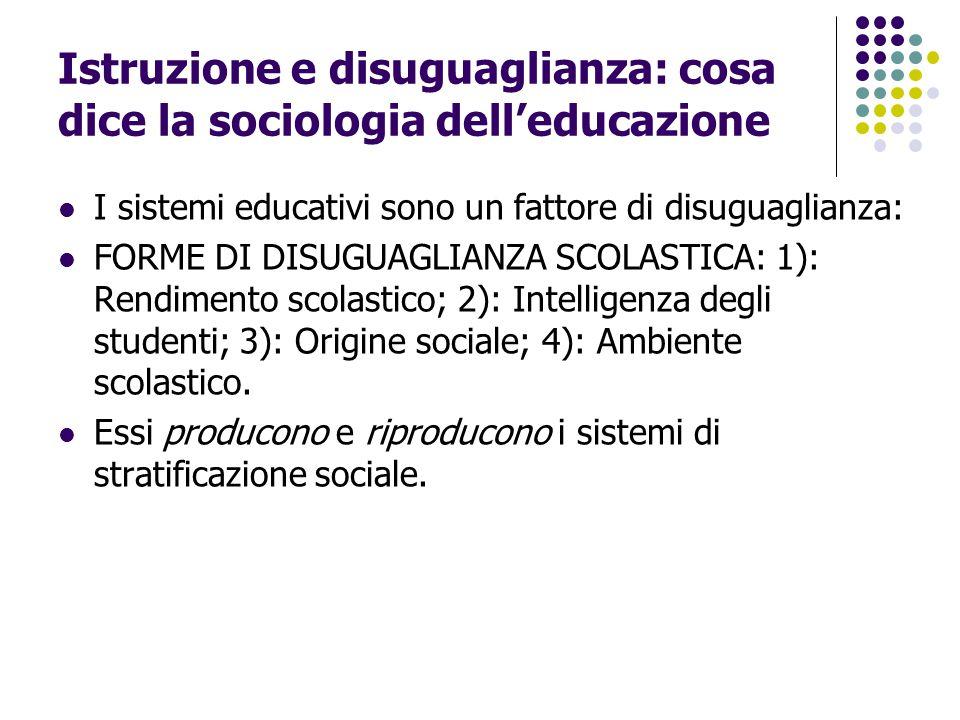 Istruzione e disuguaglianza: cosa dice la sociologia dell'educazione