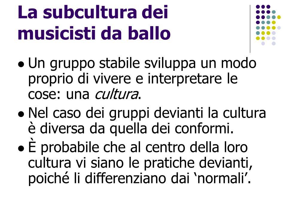 La subcultura dei musicisti da ballo
