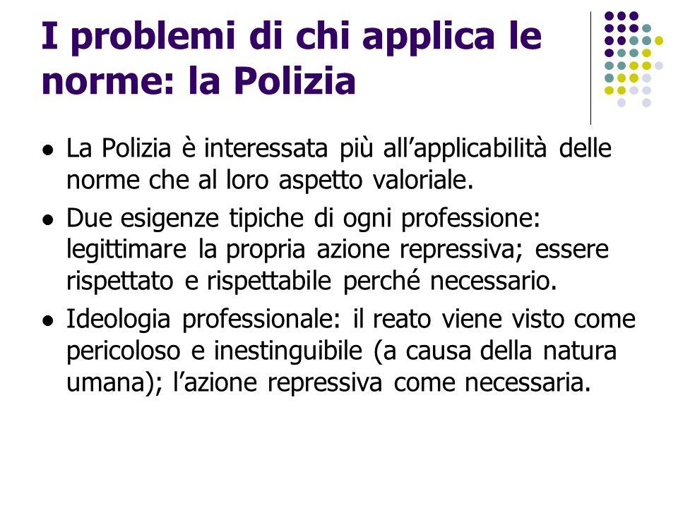 I problemi di chi applica le norme: la Polizia