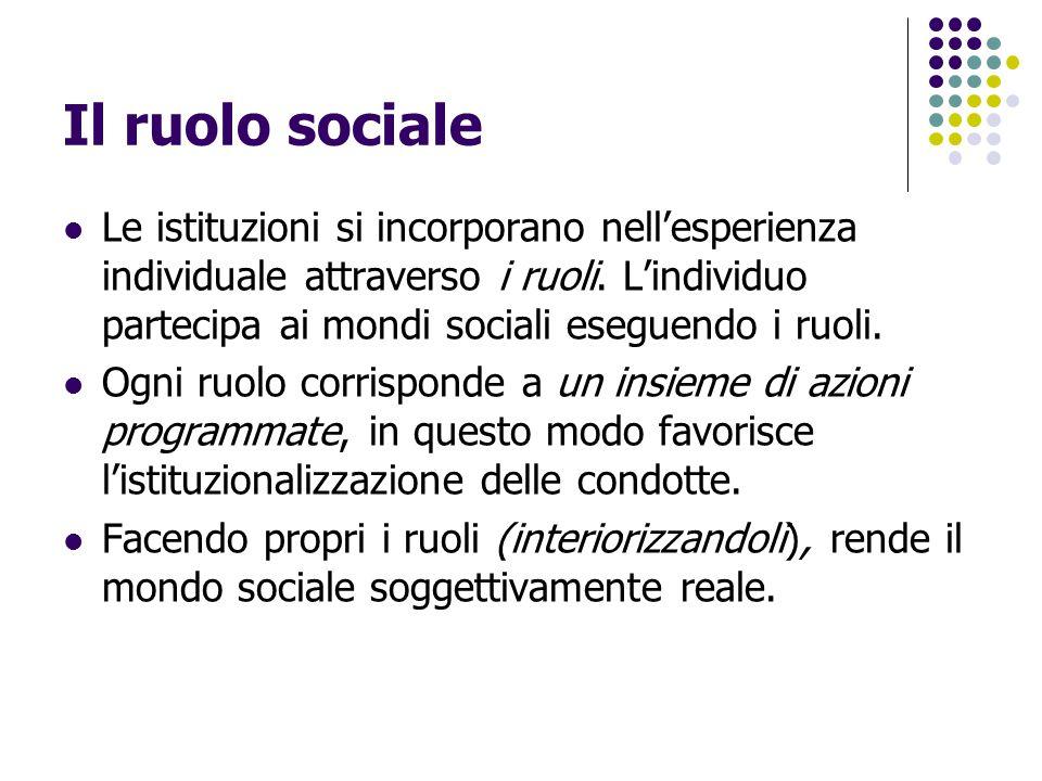 Il ruolo sociale