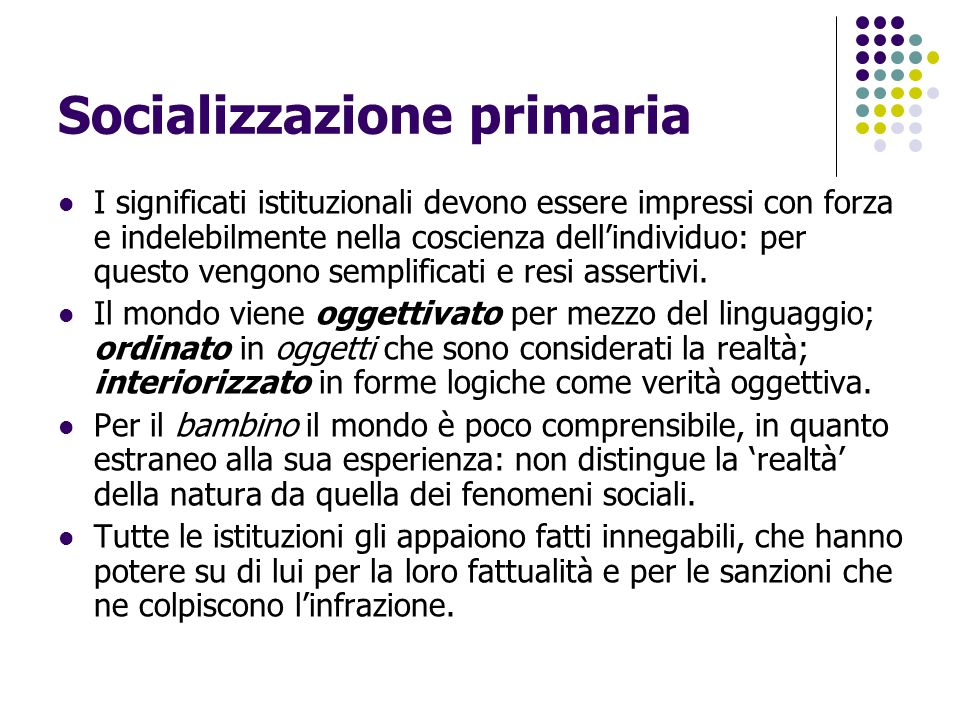 Socializzazione primaria