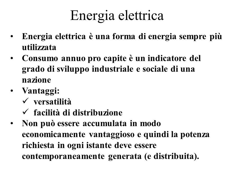 Energia elettrica Energia elettrica è una forma di energia sempre più utilizzata.