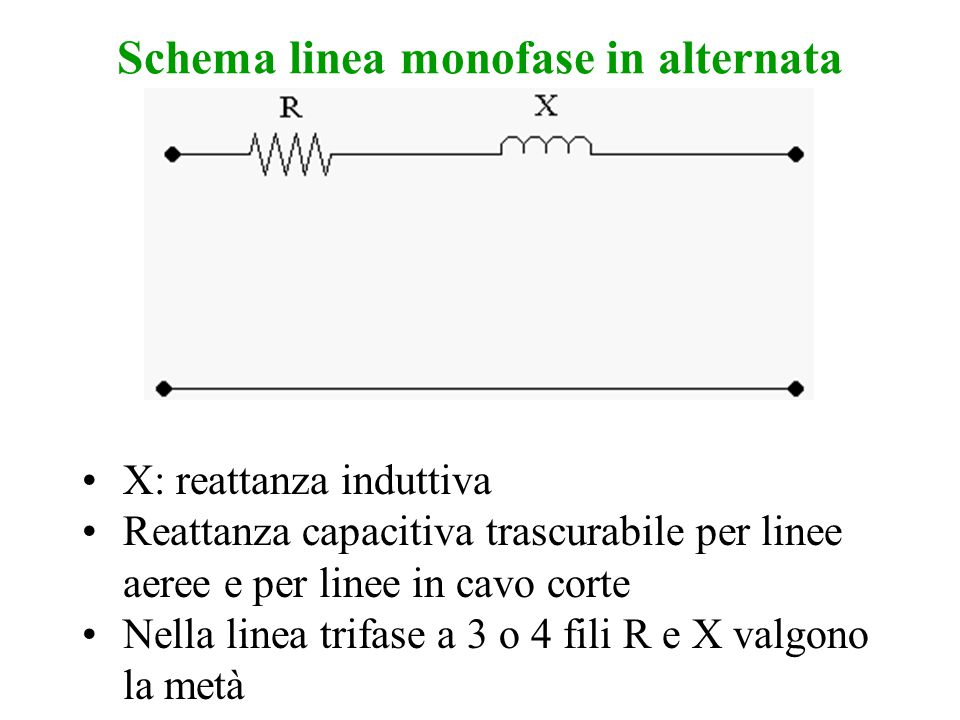Schema linea monofase in alternata