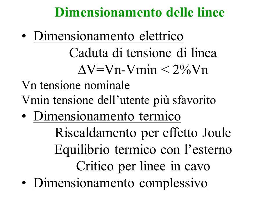 Dimensionamento delle linee