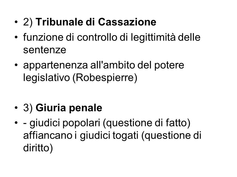 2) Tribunale di Cassazione