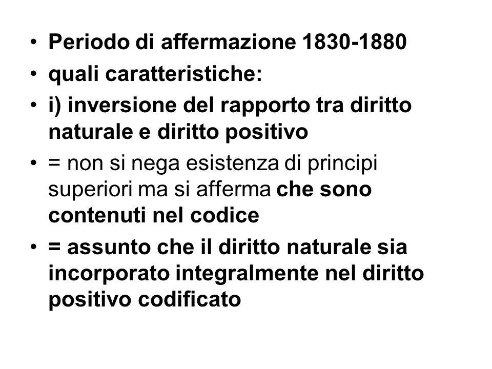 Periodo di affermazione 1830-1880