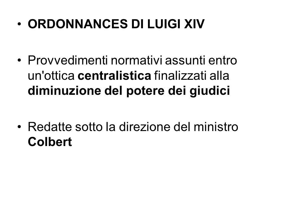 ORDONNANCES DI LUIGI XIV