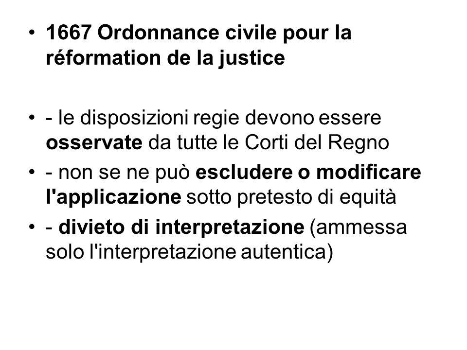 1667 Ordonnance civile pour la réformation de la justice