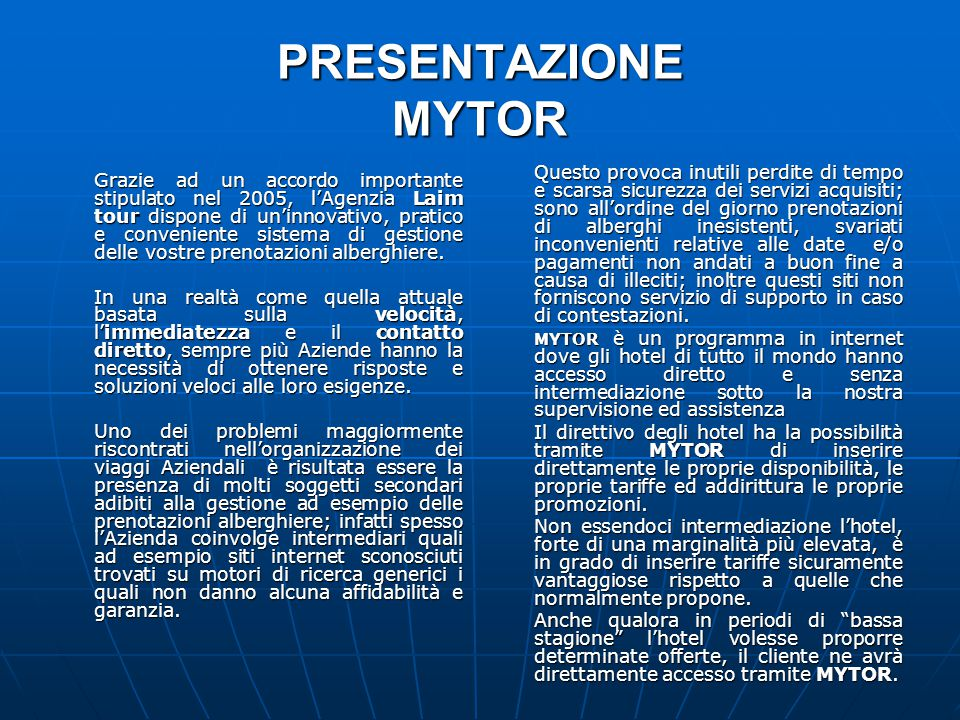 Business travel plan my tor system ppt scaricare for Ufficio ricerche minerarie e perdite di tempo