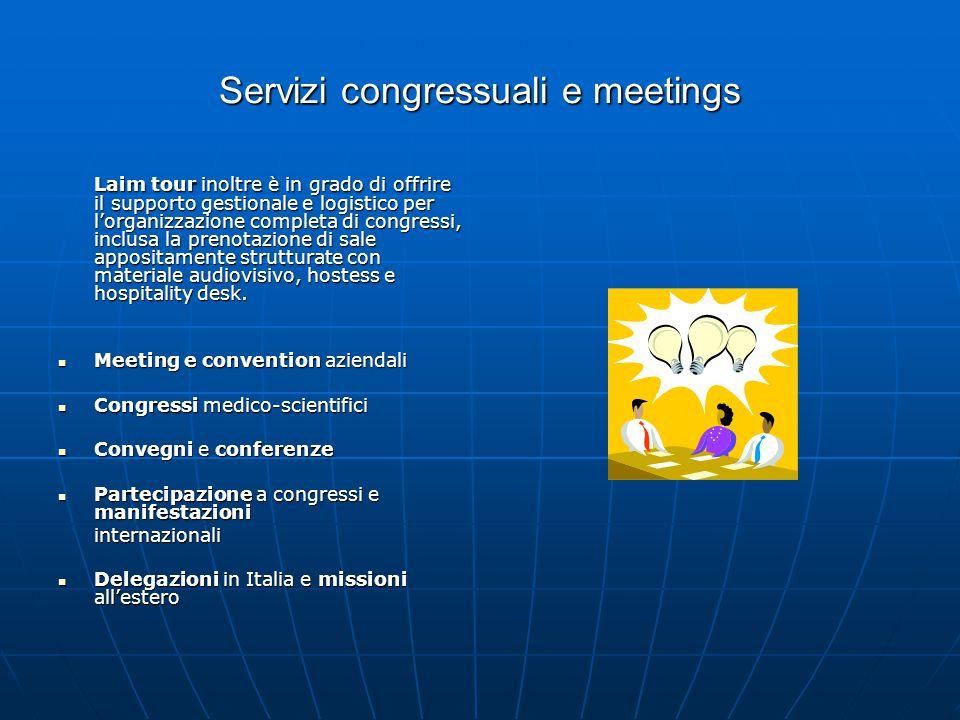 Servizi congressuali e meetings