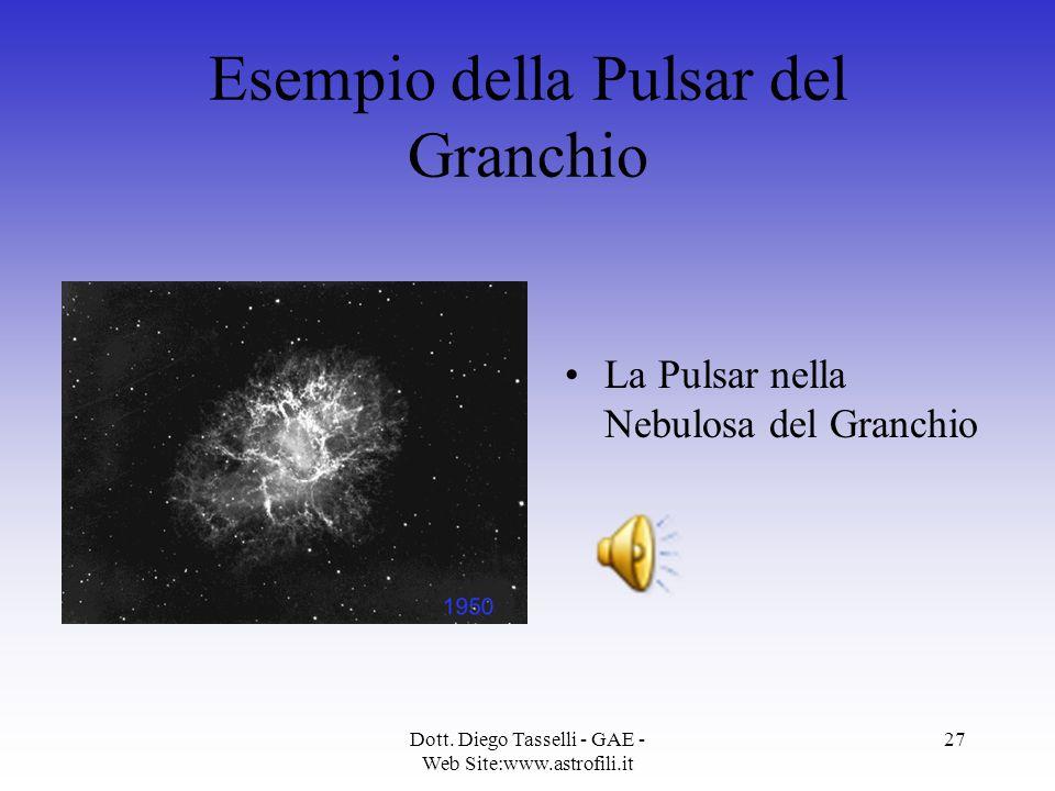 Esempio della Pulsar del Granchio