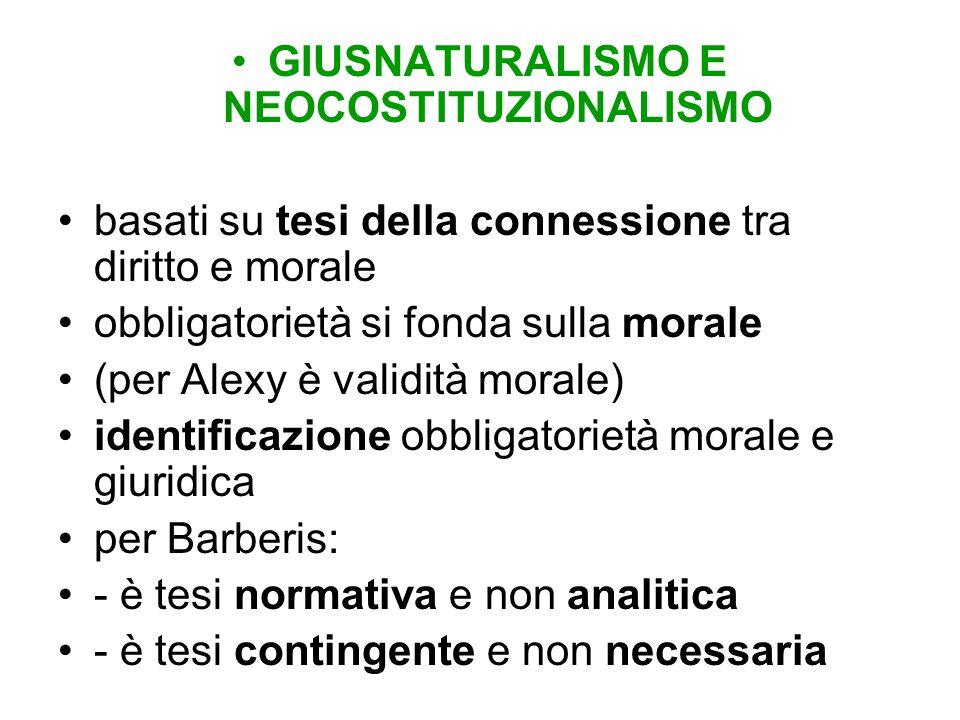 GIUSNATURALISMO E NEOCOSTITUZIONALISMO