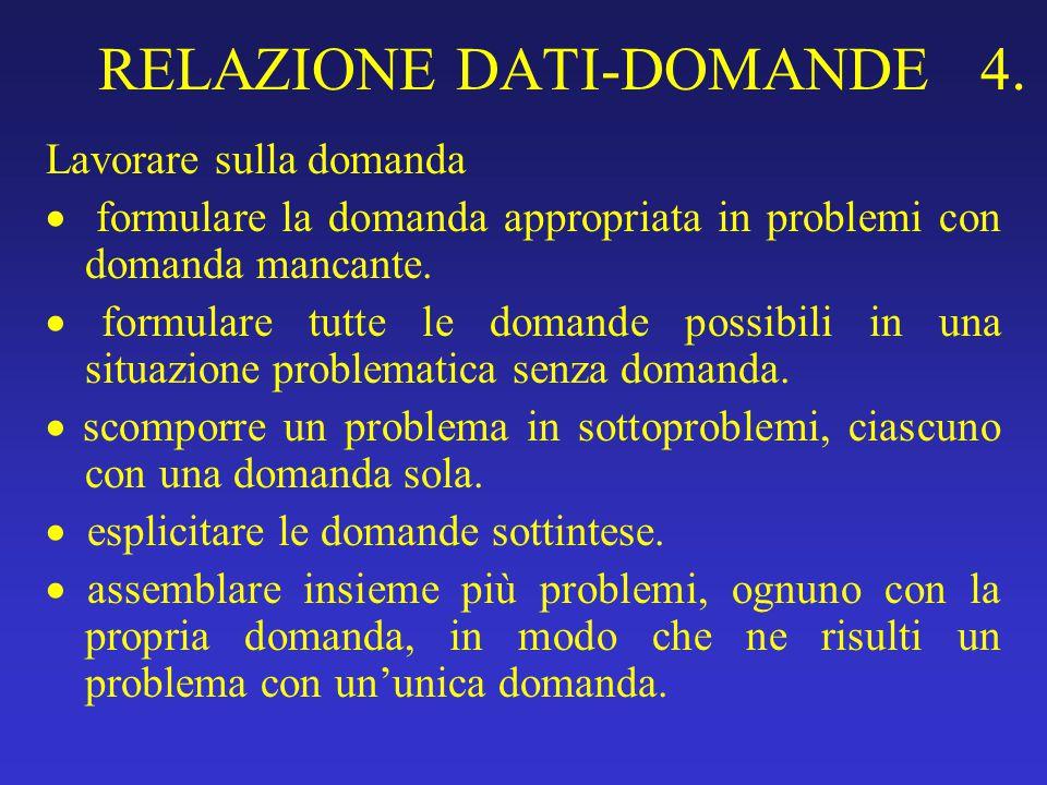 RELAZIONE DATI-DOMANDE 4.