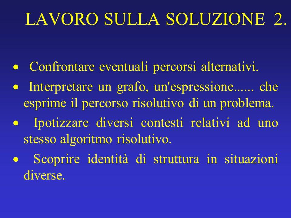 LAVORO SULLA SOLUZIONE 2.