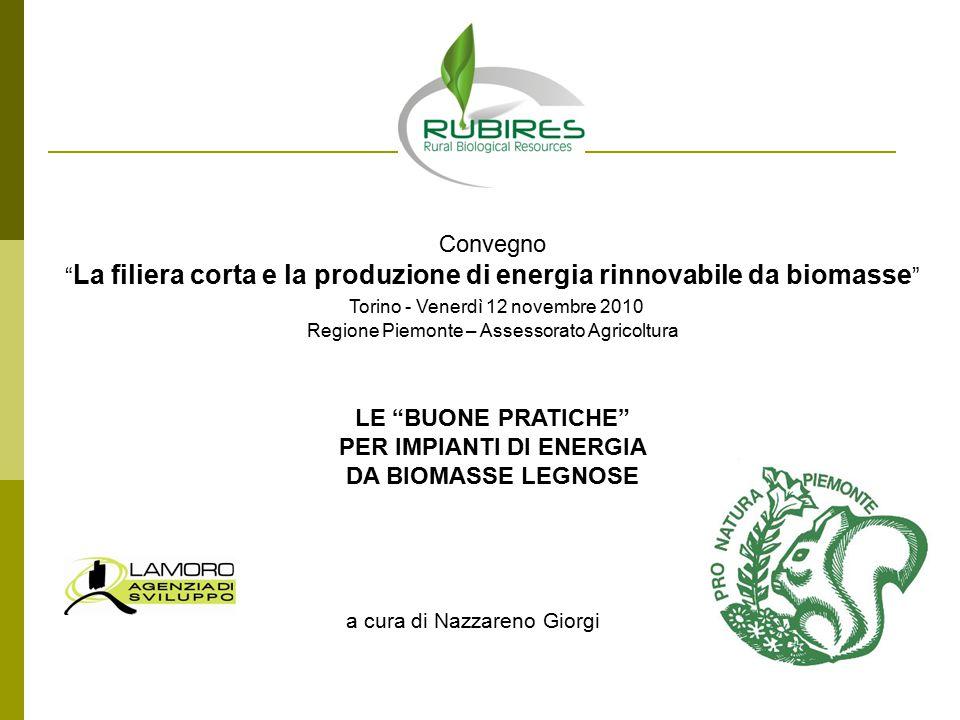 La filiera corta e la produzione di energia rinnovabile da biomasse