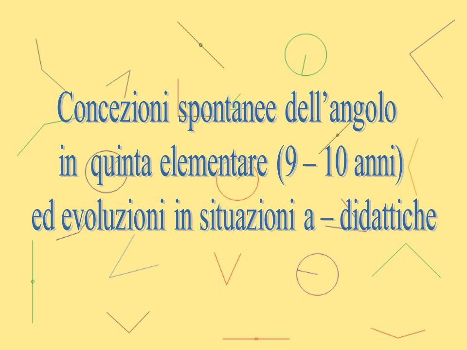 Concezioni spontanee dell'angolo in quinta elementare (9 – 10 anni)