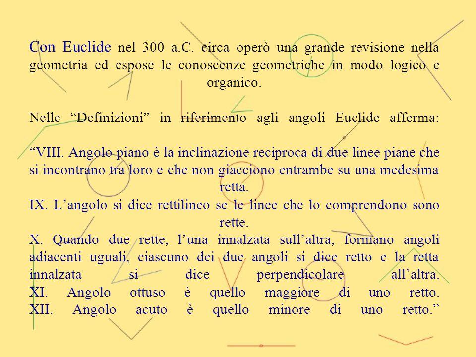Con Euclide nel 300 a.C.