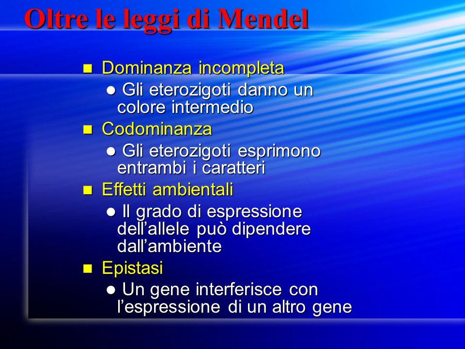 Oltre le leggi di Mendel