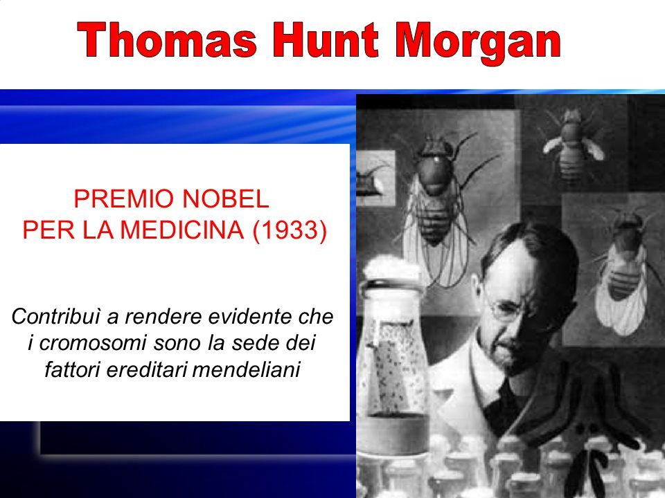 Thomas Hunt Morgan PREMIO NOBEL PER LA MEDICINA (1933)