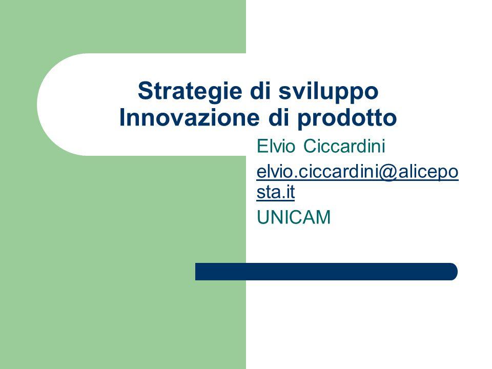 Strategie di sviluppo Innovazione di prodotto