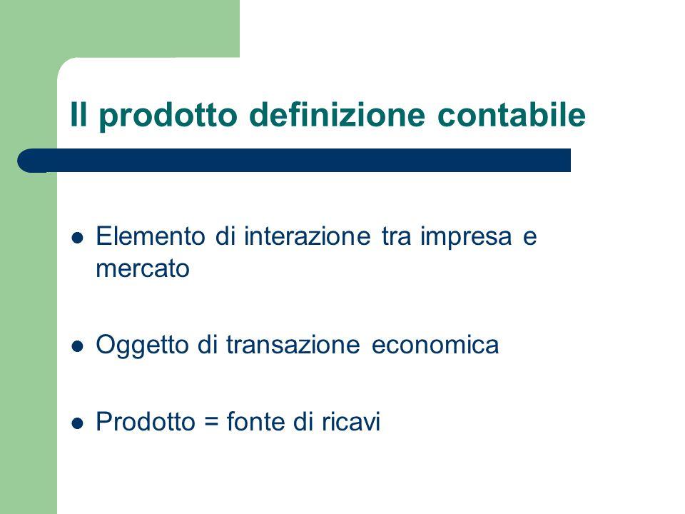 Il prodotto definizione contabile