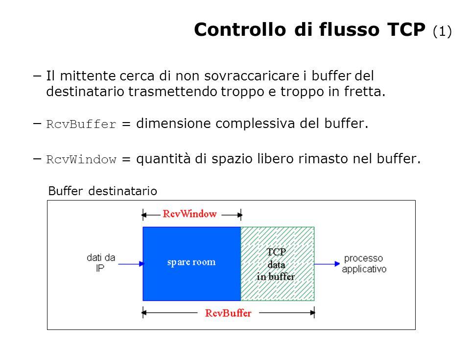 Controllo di flusso TCP (1)