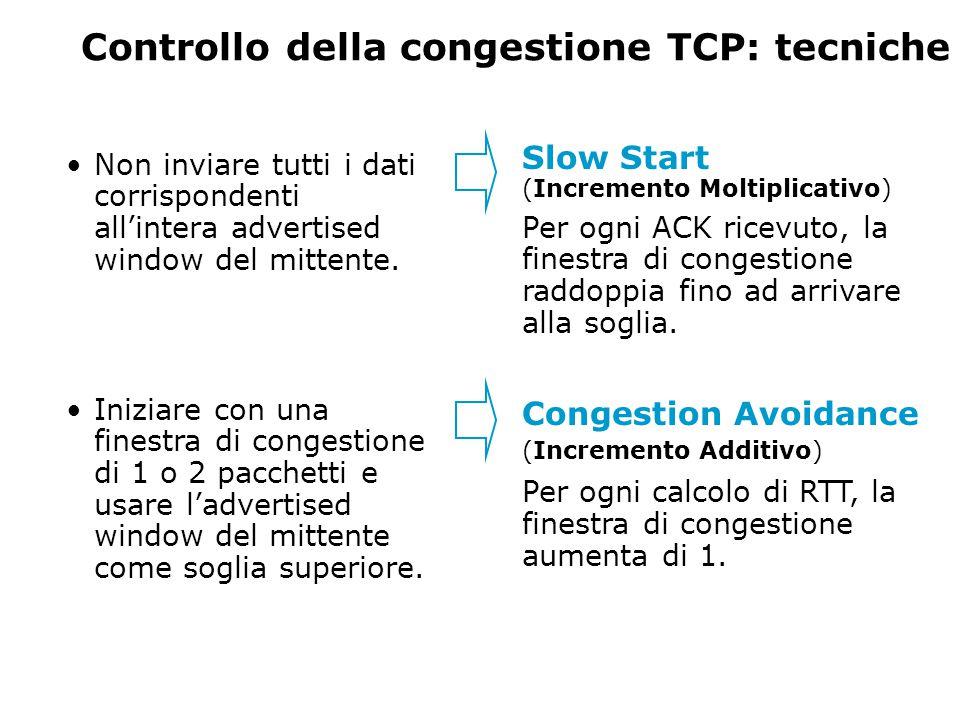 Controllo della congestione TCP: tecniche