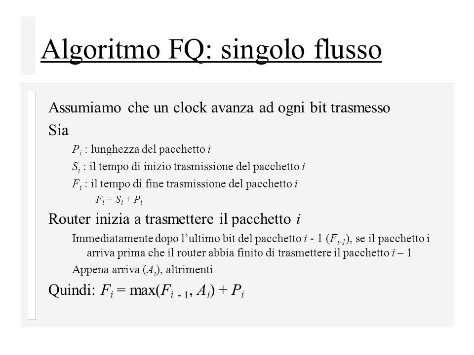Algoritmo FQ: singolo flusso