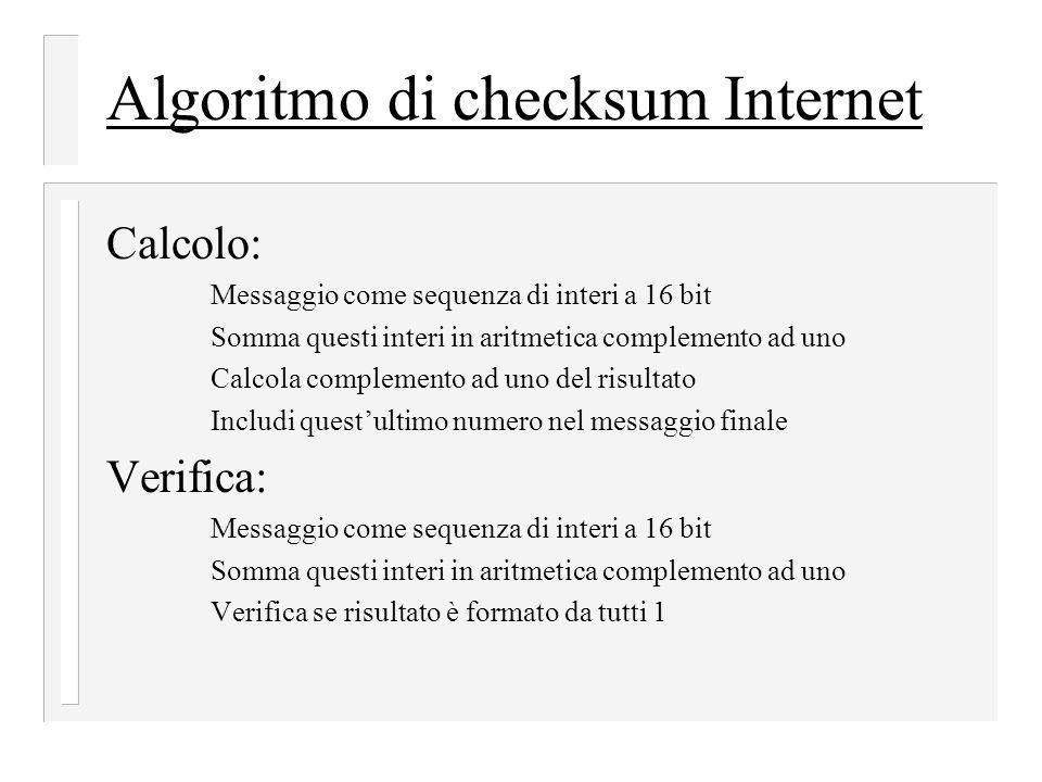 Algoritmo di checksum Internet