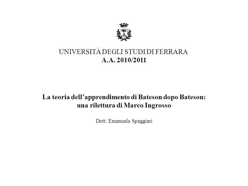 UNIVERSITÀ DEGLI STUDI DI FERRARA A.A. 2010/2011