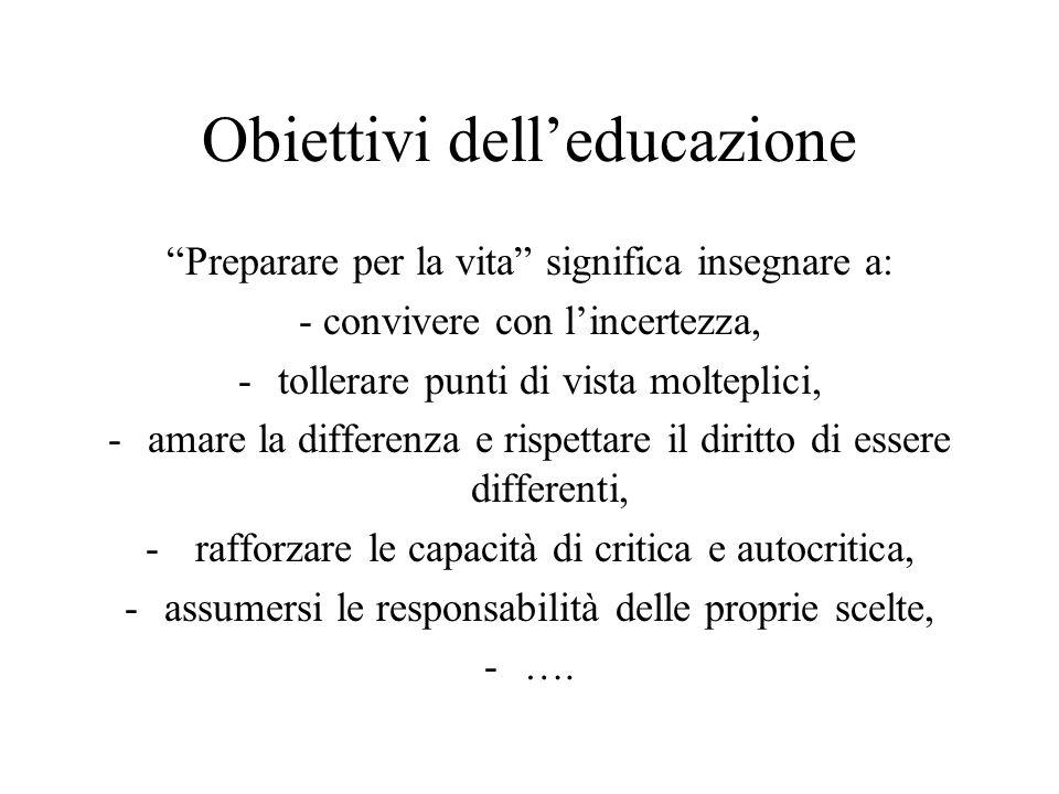 Obiettivi dell'educazione