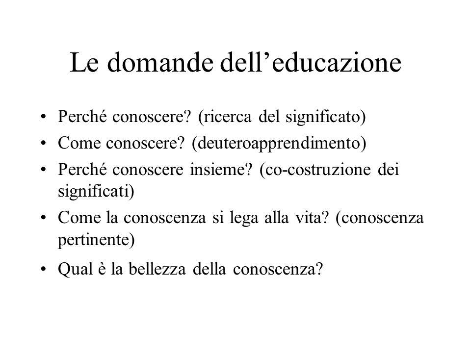 Le domande dell'educazione