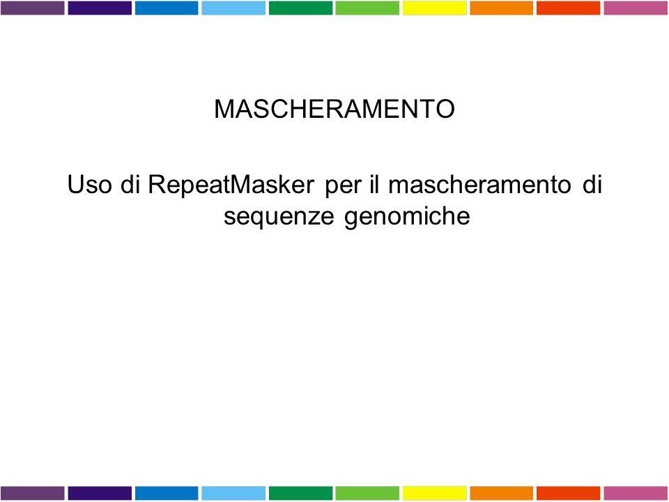 Uso di RepeatMasker per il mascheramento di sequenze genomiche