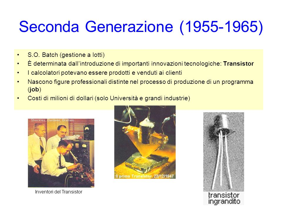 Seconda Generazione (1955-1965)
