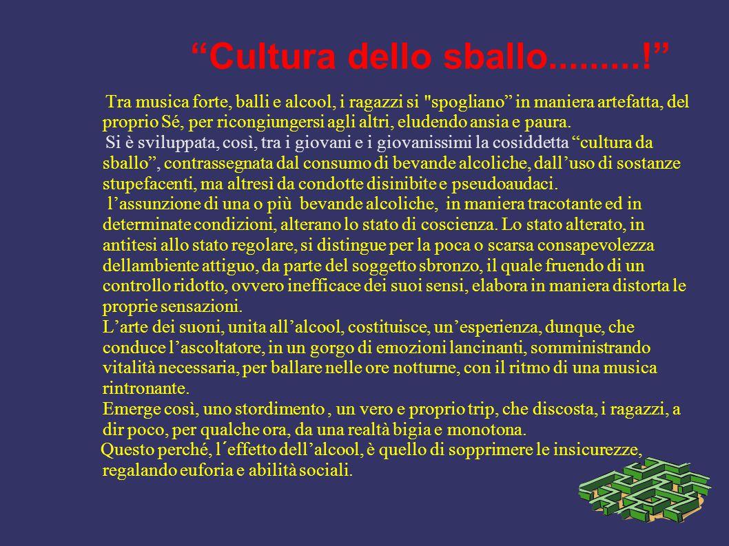 Cultura dello sballo.........!