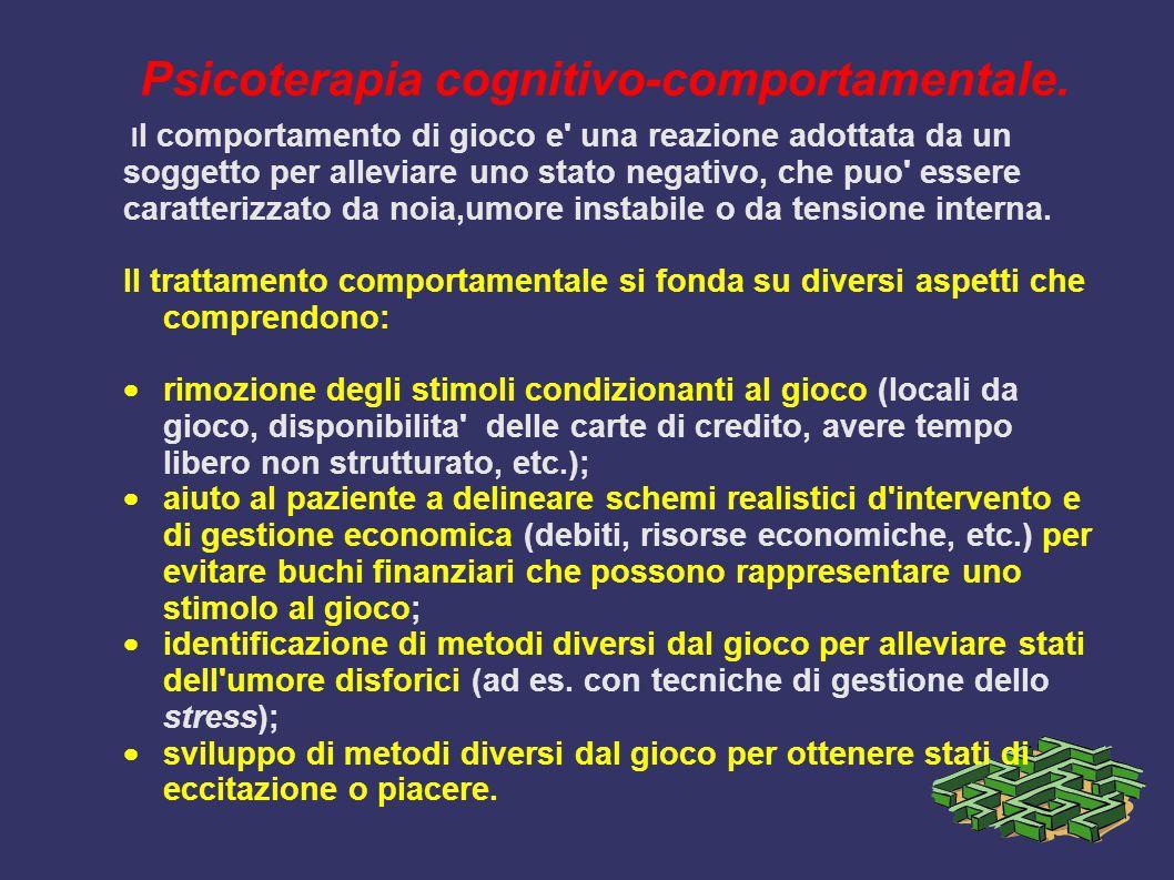 Psicoterapia cognitivo-comportamentale.