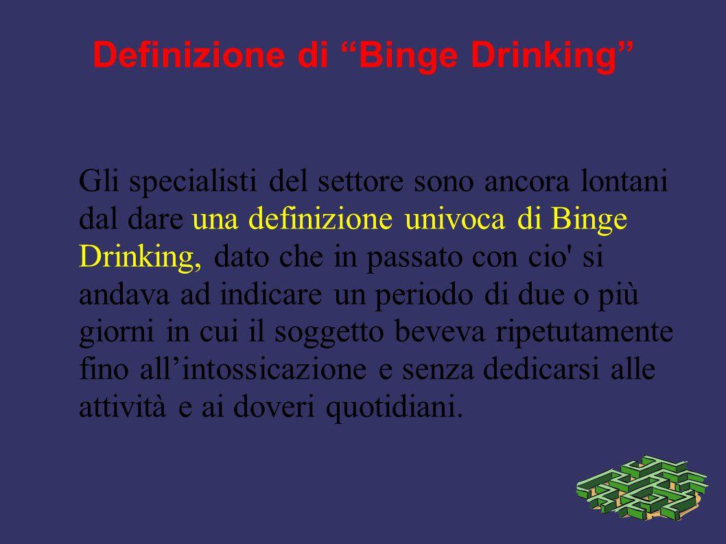 Definizione di Binge Drinking