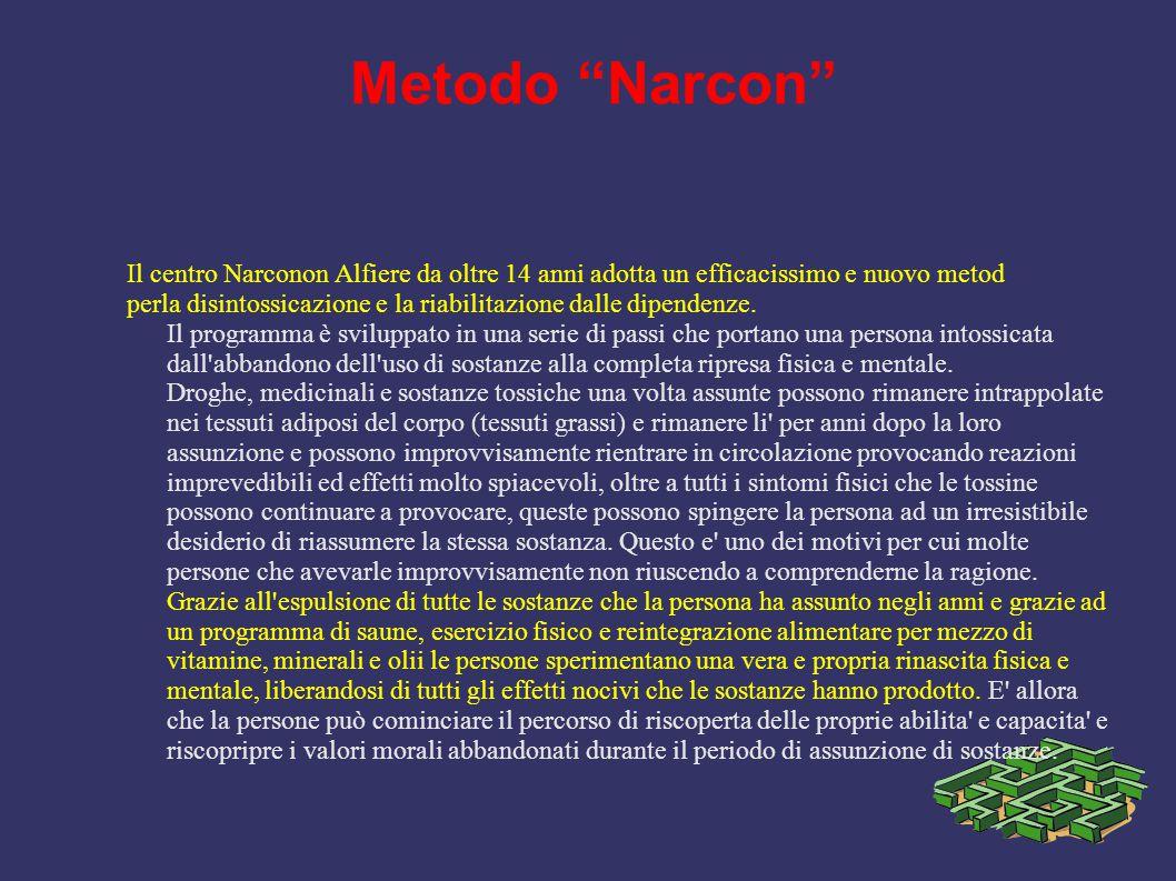 Metodo Narcon Il centro Narconon Alfiere da oltre 14 anni adotta un efficacissimo e nuovo metod.