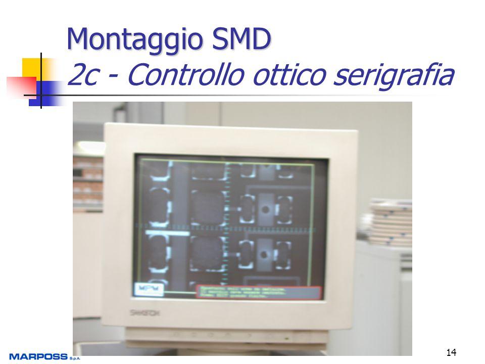 Montaggio SMD 2c - Controllo ottico serigrafia