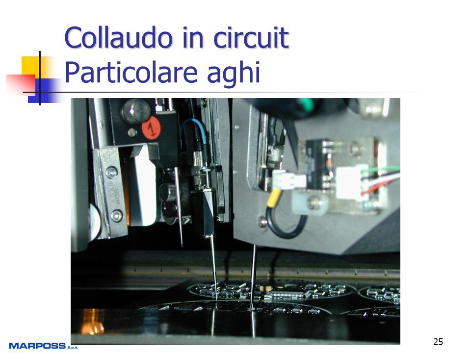 Collaudo in circuit Particolare aghi