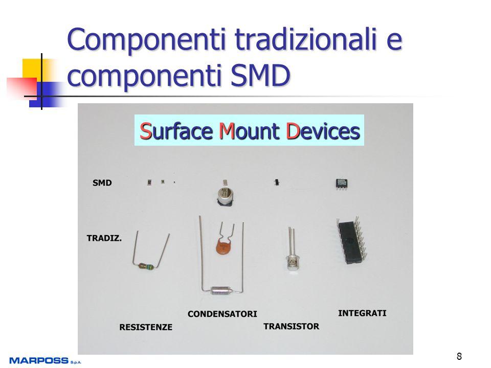 Componenti tradizionali e componenti SMD