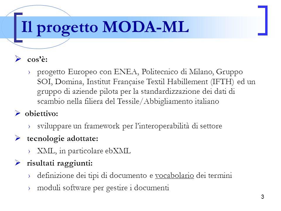 Il progetto MODA-ML cos'è: