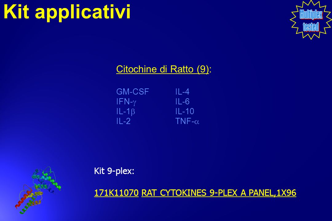 Kit applicativi Citochine di Ratto (9): Kit 9-plex: