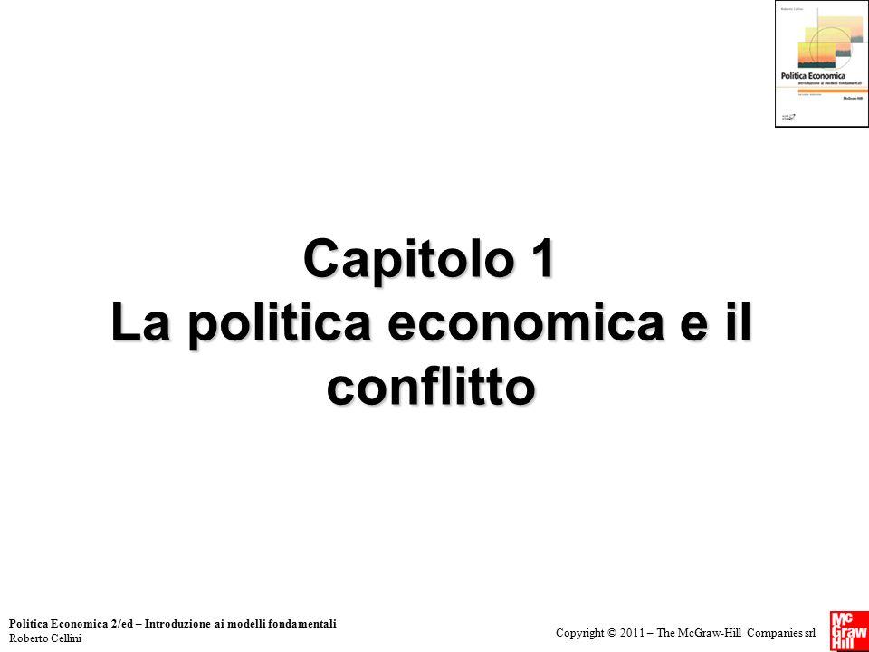 Capitolo 1 La politica economica e il conflitto