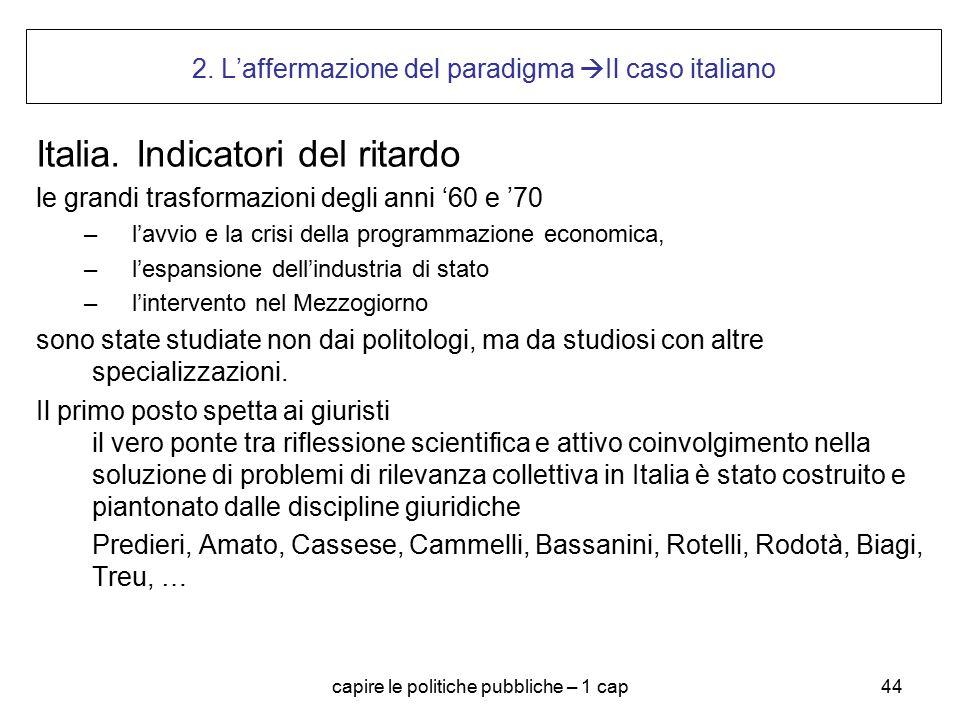 2. L'affermazione del paradigma Il caso italiano