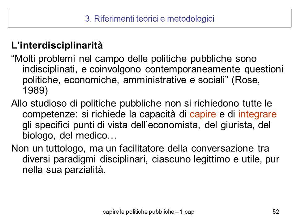 3. Riferimenti teorici e metodologici