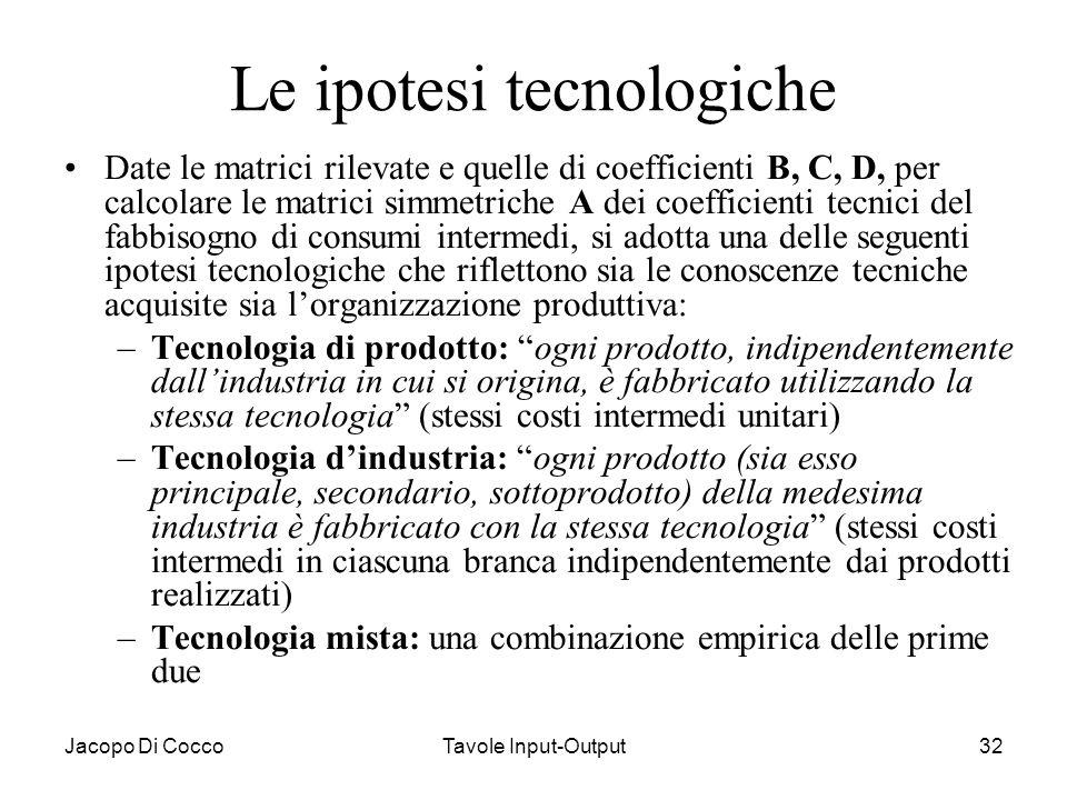 Le ipotesi tecnologiche